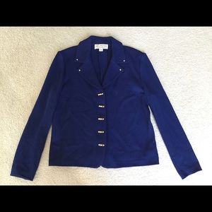 St. John Collection by Marie Gray blue blazer
